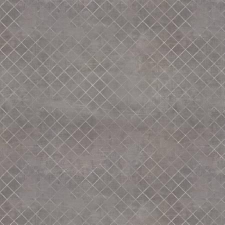 Flower Market - Dark Grey Trellis
