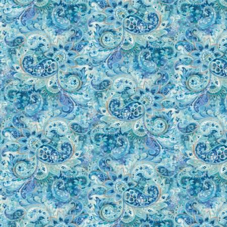 Blue Tonal Paisley