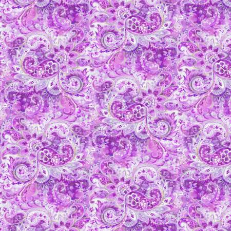 Wild Blush -  Paisley - Purple Tonal - 89222-616