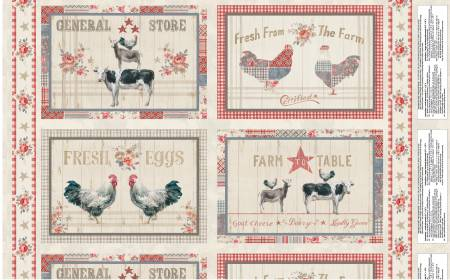 Farmhouse Chic Multi Placemat Panel