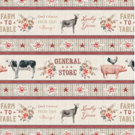 Farmhouse Chic 89237-223 Multi Farmhouse Chic Repeating Stripe