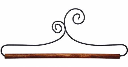 8in Double Scroll Holder With Dowel