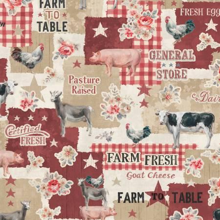 Tan Farmhouse Chic Large Allover 89239-232