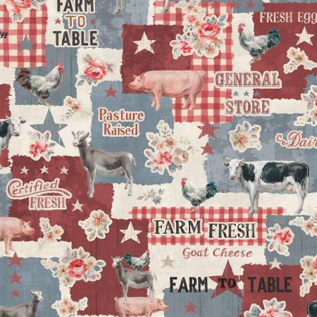 Blue Farmhouse Chic Large Allover 89239-234