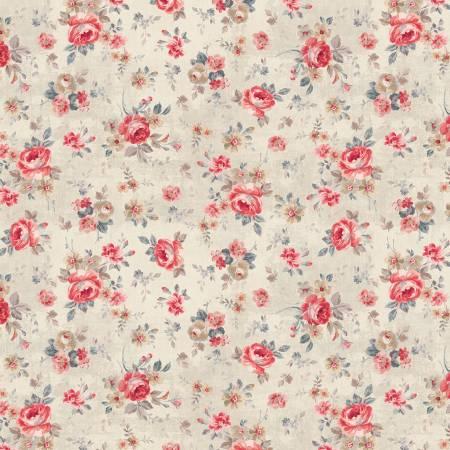 Farmhouse Chic Cream Floral Toss
