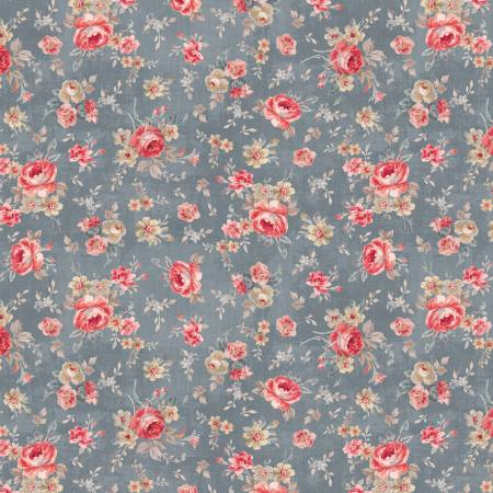 Farmhouse Chic Grey Floral Toss 89241-432