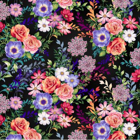 Botanica Blooms - Black Main Floral