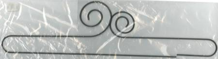 ACKFLED 24in Double Scroll Split Btm Hanger Silver Tex