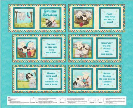 Blue Splish Splash Soft Book Panel #101