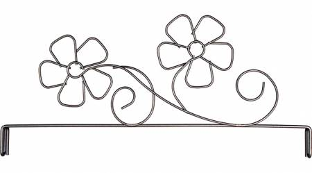12in Daisy Header Silver Tex