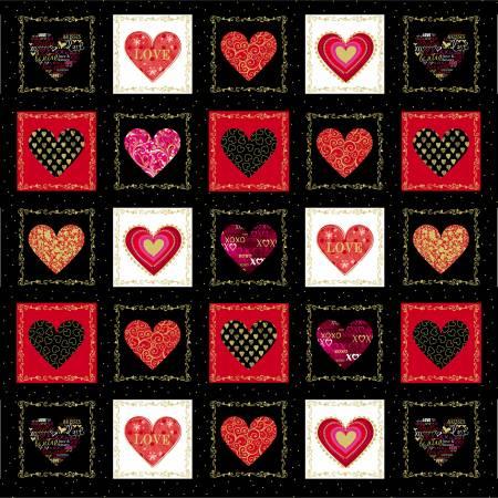 Black Heart Boxes w/Metallic 8958MB-12