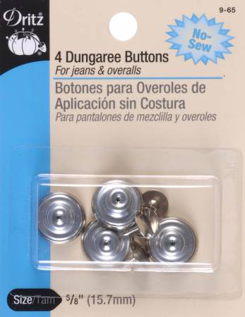 Button Dungaree Nickel 5/8in