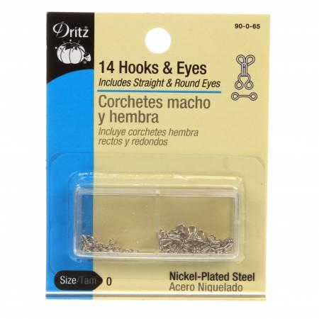 Hooks Eyes & Loops Nickel Size 0