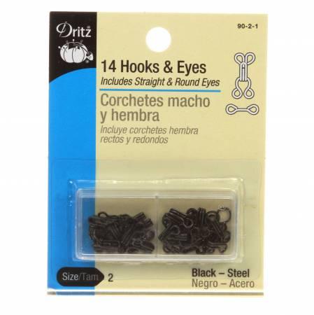 14 Hooks & Eyes/Black 90-2-1 2