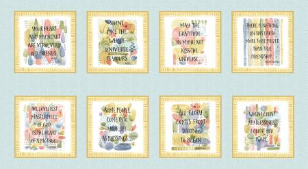 Blessings  INPIRATIONAL BLOCKS  Quilt Panel by Henry Glass Fabrics
