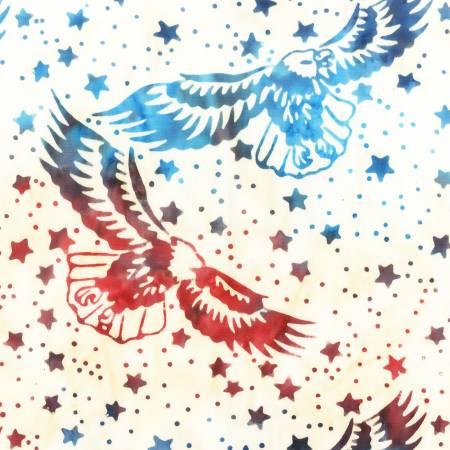 Multi Patriotic Batik Print