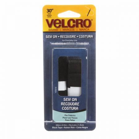 VELCRO Brand Fastener Regular Duty Strip Black 3/4in x 30in