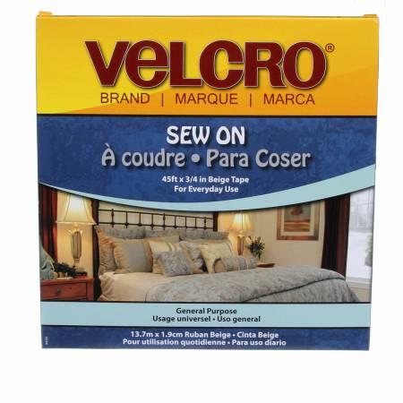 VELCRO Regular Duty Tape Beige 3/4in