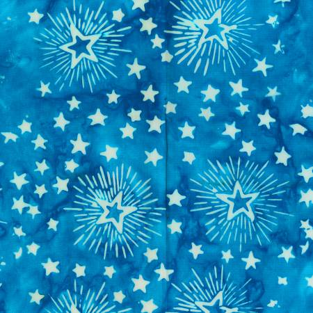 Anthology Fabrics  Freedom Fireworks  Blue Patriotic Batik  9004Q-4