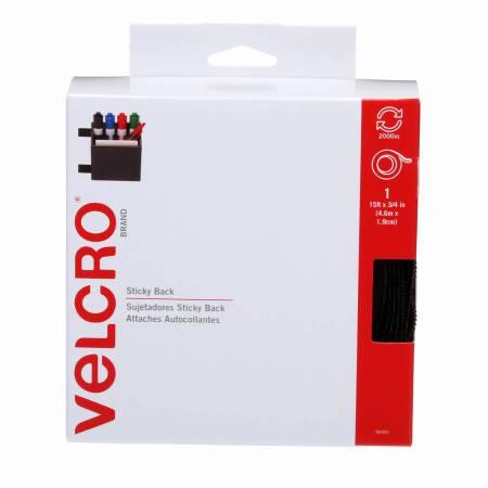 VELCRO? Brand Fastener Sticky Back Tape Black 3/4in x 15ft