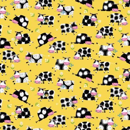Yellow Allover Cows