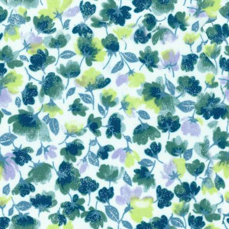 Teal Little Flowers MAS90305-Q