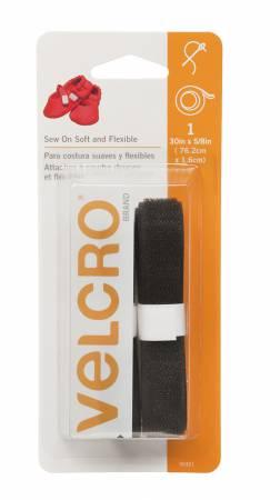 Velcro brand Soft & Flex Sew-In Black 5/8in x 30in
