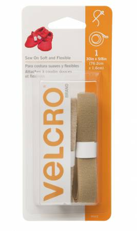 Velcro - Soft and Flexible Sew-In Beige - 5/8in x 30in - 90322V