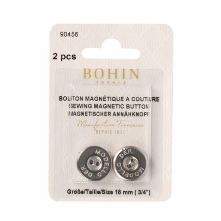 Bohin Buttons Magnetic Sew on  3/4in  2ct