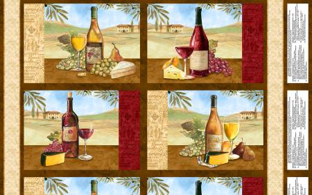 Multi Tuscan Delight Placemat Panel 24in x 43in