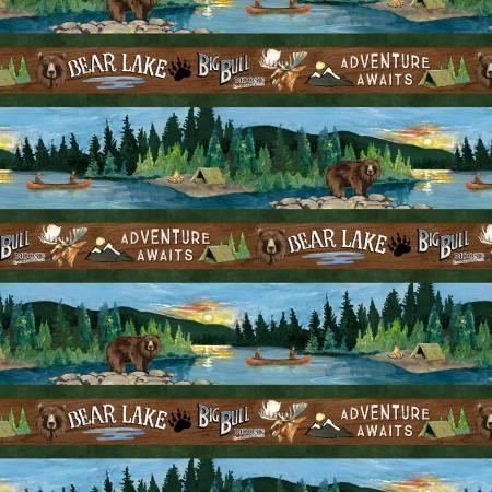 Multi Lake Adventure Repeating Stripe