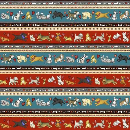 Multi Dog Stripe  - pat 9063 col 78