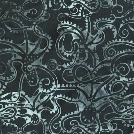 Charcoal Batik Octopus