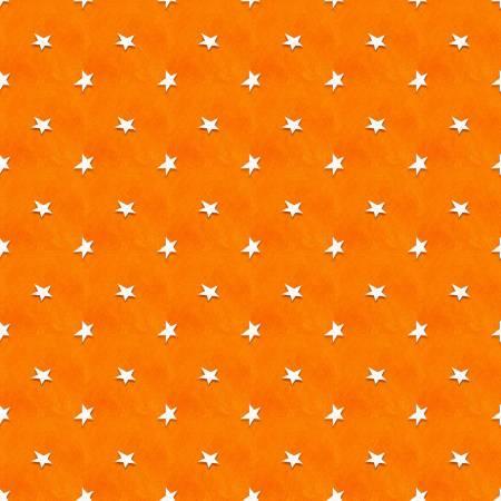 Orange Tossed Stars Glow in the Dark