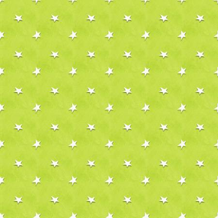 Lime Green Tossed Stars Glow in the Dark