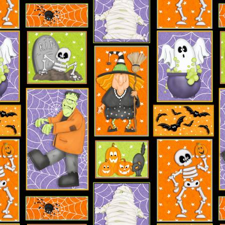 HG- A Haunting We Will Glow Patchwork Motifs Glow in the Dark
