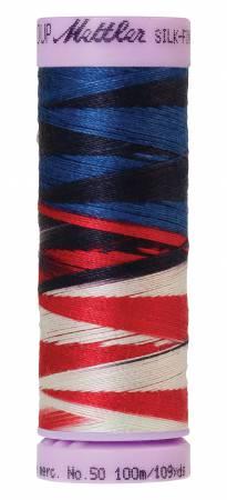 Mettler - Silk-Finish 50wt Variegated Cotton Thread - 100m/109yds - Patriotic