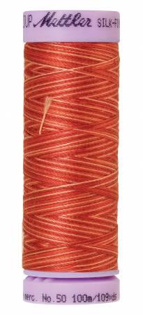 Silk-Finish 50wt Variegated Cotton Thread 109yd/100M Terra Tones