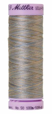 Silk-Finish 50wt Variegated Cotton Thread 109yd/100M Silvery Blues