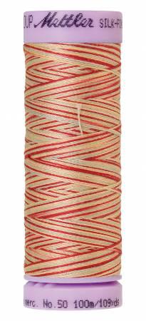 Silk-Finish 50wt Variegated Cotton Thread 109yd/100M Antique Floral