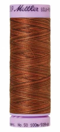 Silk-Finish 50wt Variegated Cotton Thread 109yd/100M Chocolatte