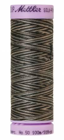 Silk-Finish 50wt Variegated Cotton Thread 109yd/100M Charcoal