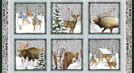 Snowy Woods- Forest Animals N-7