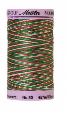 Silk-Finish 50wt Variegated Cotton Thread 500yd/457M Seasons Greetings