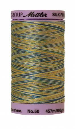 Silk-Finish 50wt Variegated Cotton Thread 500yd/457M China Blue