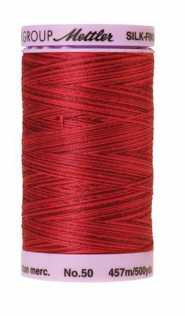 Silk-Finish 50wt Variegated Cotton Thread 500yd/457M Midnight Garnet