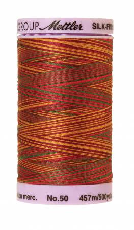 Silk-Finish 50wt Variegated Cotton Thread 500yd/457M Poppy Garden