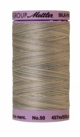 Silk-Finish 50wt Variegated Cotton Thread 500yd/457M Dove Gray