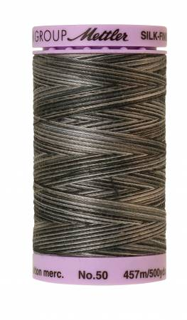 Silk-Finish 50wt Variegated Cotton Thread 500yd/457M Charcoal
