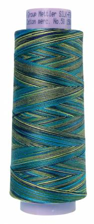 Silk Finish Variegated 50wt Cotton Thread 1500yd/1372M Lakeside View